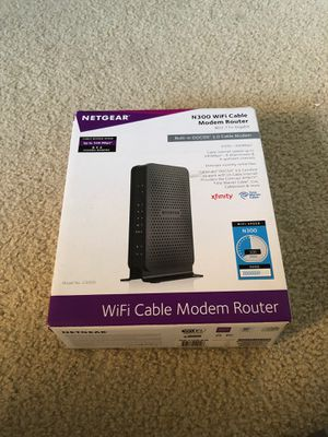 Netgear N300 Wifi Cable Modem Router Combo for Sale in San Diego, CA