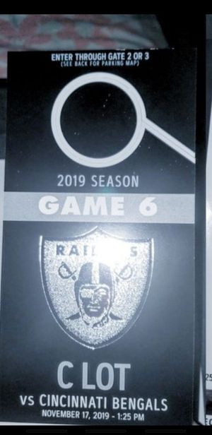 Raiders . Need a B-lot parking pass... trde for C-lot + 20$....... RAIIIIIDDDERRRRSSSSSS for Sale in Redwood City, CA