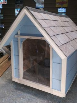 New Dog House With Plastic Strip Door Large Size $200 Firm for Sale in Moreno Valley,  CA