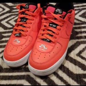 Size 8 Men's Neon Red Air Force 1 for Sale in Douglasville, GA