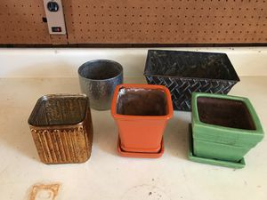 5 Plant Pots for Sale in Greenville, SC