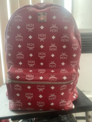 MCM Red Leather Backpack Large 100% Authentic for Sale in Los Angeles, CA