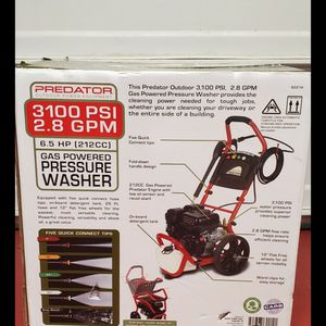 Brand new never used SEALED BOX PREDATOR 3100 PSI, 2.8 GPM, 6.5 HP (212cc) Pressure Washer $$ 260 firm for Sale in Bakersfield, CA