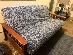 Futon - Full Size with Wood Framing and Fluffy Firm Mattress for Sale in Port Richey, FL