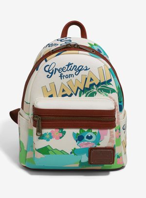 DISNEY LOUNGEFLY LILO & STITCH TRAVEL POSTCARD MINI BACKPACK for Sale in Montebello, CA