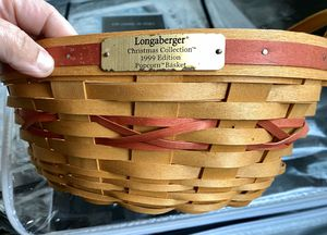 Longaberger 1999 Christmas Popcorn Wicker Basket for Sale in Maple Grove, MN