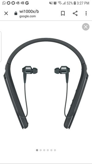 Sony Noise Cancelling behind neck in ear headphones for Sale in Alafaya, FL