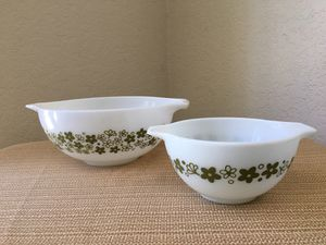 Pyrex Cinderella Crazy Daisy print mixing bowls #441 and #443 for Sale in Pasadena, CA