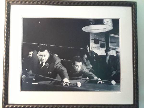 The Hustler Photo. Massive framed art