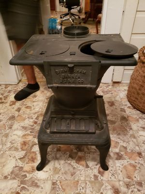 Old cast iron wood burning stove for Sale in Tallassee, AL