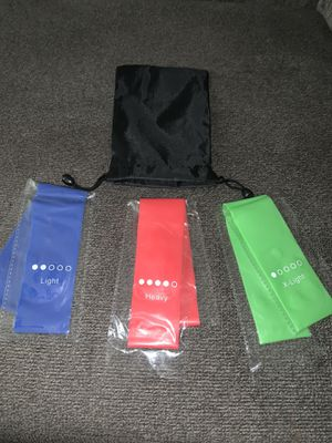 Exercise resistance band set for Sale in Houston, TX