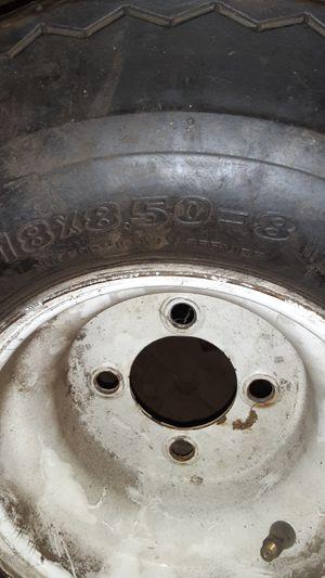 Destone small tire an wheels 18x8.50-8 . for Sale in Dinuba, CA