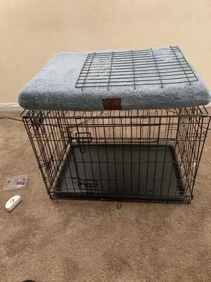 Dog crate with AKC Orthopedic crate bed for Sale in Paterson, NJ