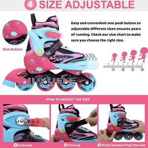 Adjustable Inline Skates for Kids with Light up Wheels, Indoor and Outdoor Patines Roller Blades Skates for Girls and Boys Youth for Sale in Queens, NY