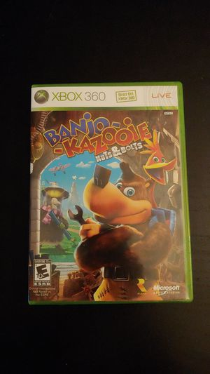 XBOX 360 Banjo Kazooie Nuts & Bolts Game Complete Working for Sale in Tacoma, WA