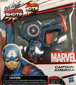 Marvel Captain America Avengers micro shots gun hasbro brand new for Sale in Los Angeles, CA