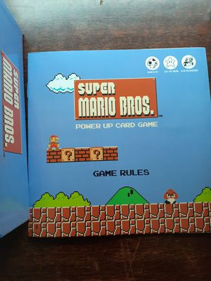 Super mario Bros Card Game for Sale in Loma Linda, CA