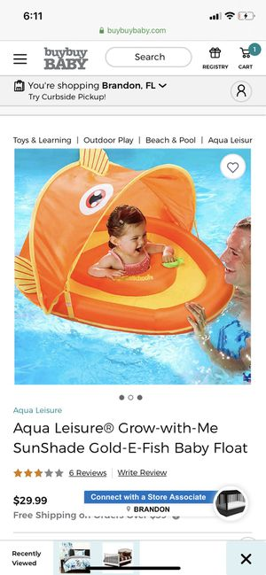 Aqua Leisure SunShade Fish Baby Float for Sale in Tampa, FL