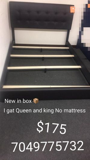 Sell king and Queen black frames $175 no mattress for Sale in Charlotte, NC