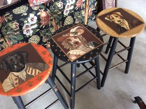 Hand painted stools for Sale in West Windsor Township, NJ