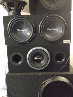 10 12 and 15 Inch Subwoofer Setups Amps Sold Seperately Prices In Description for Sale in Portland,  OR