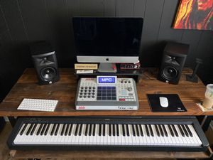 Custom music desk with roll out keyboard shelve for Sale in Norwalk, CA