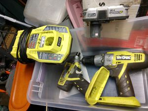 Ryobi 18v drill and drill driver set for Sale in Reynoldsburg, OH