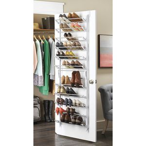 Whitmor Over the Door Shoe Rack - 36 Pair for Sale in Hollywood, FL