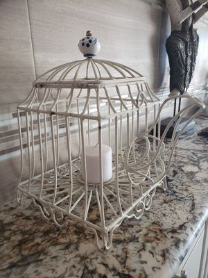 Adorable teapot shaped metal indoor/ outdoor candle holder. for Sale in Las Vegas, NV