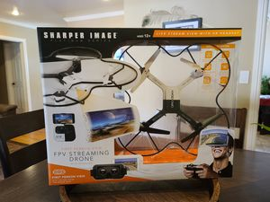 Sharper Image Platinum Series FPV Steaming Drone w/ VR Headset for Sale in Fullerton, CA