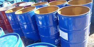 No lids 55 gal plastic barrels food grade for Sale in LAKE MATHEWS, CA