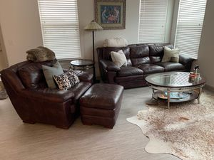 Large plush overstuffed living room set for Sale in Dallas, TX