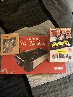 Table Top Air Hockey, KanJam, and Mind Teasers for Sale in Los Angeles, CA