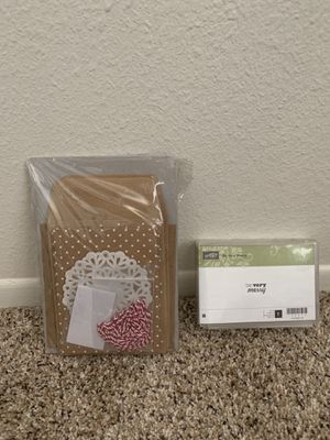 Stampin Up DIY Holiday Card/Ornament Set for Sale in Glendale, AZ