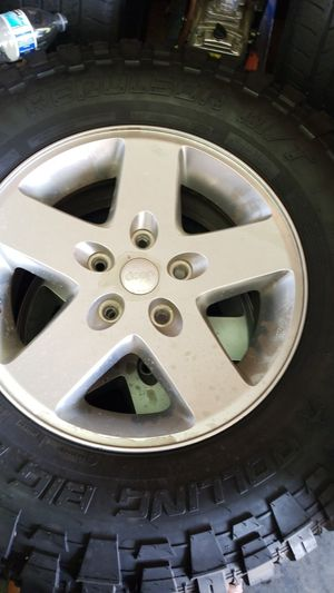 2015 wrangler wheels and tires for Sale in Reedley, CA