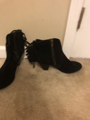 Jessica Simpson black suede fringe booties for Sale in Fuquay-Varina, NC