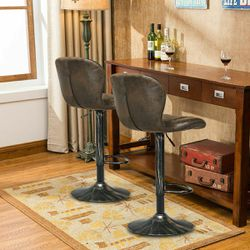 Adjustable Swivel Bar Stools with Backrest Set of 2 for Sale in Arlington,  TX