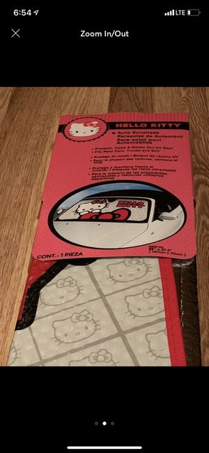 NEW Hello Kitty Sunshade Same day/Next day shipping Protects the interior material from the sun in your car! for Sale in Harrisonburg, VA