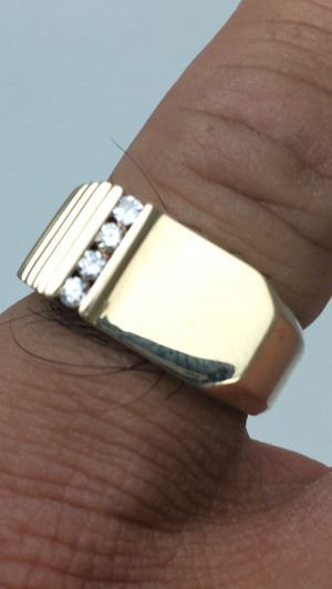 14K Solid Gold and Real Diamond Ring for Sale in Miramar, FL