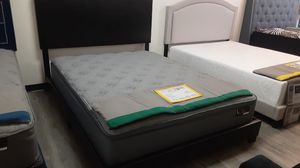Queen bed frame with regular mattress included for Sale in Phoenix, AZ