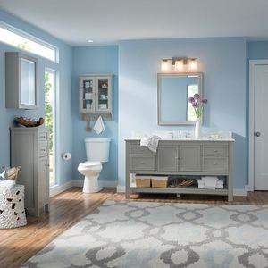 Home Decorators Collection Gazette 60 in. W Bath Vanity Cabinet Only in Grey for Center Bowl Design for Sale in Dallas, TX