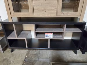 TV Stand, Black and Distressed Grey for Sale in Fountain Valley, CA