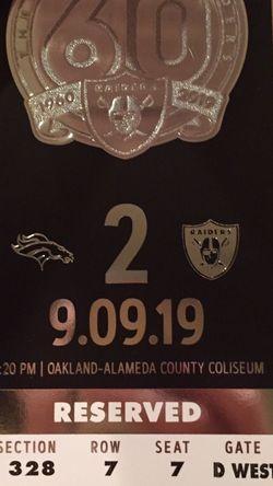 1 Oakland Raiders Last Season In Oak Ticket Stub for Sale in Fremont,  CA