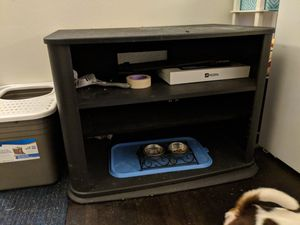 FREE black TV television stand for Sale in Portland, OR