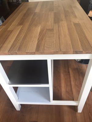 IKEA Island / dining table with adjustable bar stools. for Sale in Seattle, WA