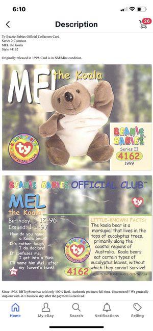 BRITANNIA the Bear Series 4 Common NM//Mint TY Beanie Babies BBOC Card