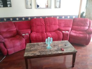 Milo red sectional for Sale in Walker, WV