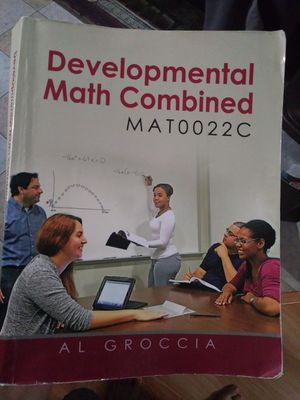 Developmental Math Combined Textbook for Sale in Orlando, FL