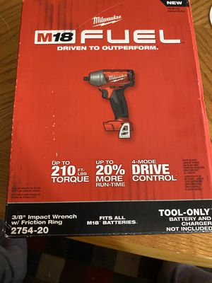 Milwaukee M18 FUEL 3/8 in. Compact Impact Wrench with Friction Ring (Tool-Only) New for Sale in San Diego, CA