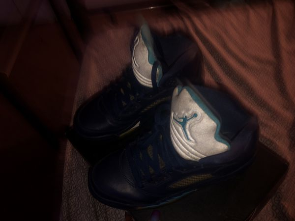 Air Jordan 6 blue reflective.